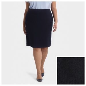 MM Lafleur Navy Pencil Skirt, Size 14